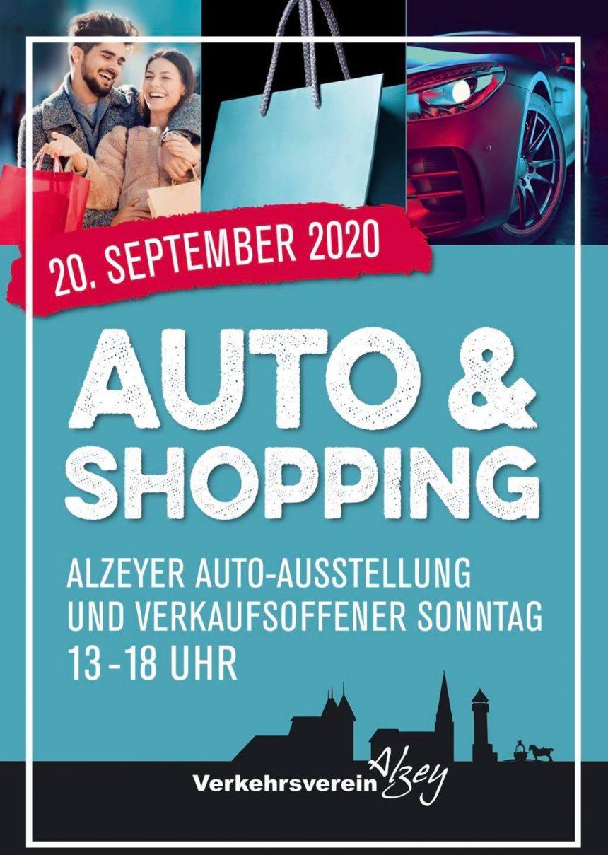 Einladung Automobilausstellung mit verkaufsoffenem Sonntag 20.09.20